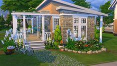Sims 4 House Building, Sims House Plans, House Floor Plans, Sims 4 Game, Sims 3, Sims 4 House Design, Casas The Sims 4, Sims 4 Build, Bohemian House