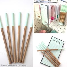 Found the cutest wood pencils in the Target dollar spot today.  6 pencils for…