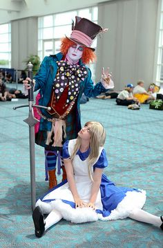Alice in wonderland -  Alicia en el pais de las maravillas.  Cosplay