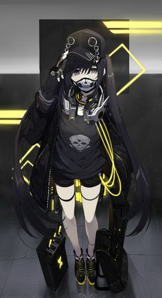 Pin on Manga zeichnungen Cool Anime Girl, Beautiful Anime Girl, Kawaii Anime Girl, Anime Art Girl, Anime Girls, Dark Anime Girl, Kawaii Art, Anime Neko, Fanarts Anime