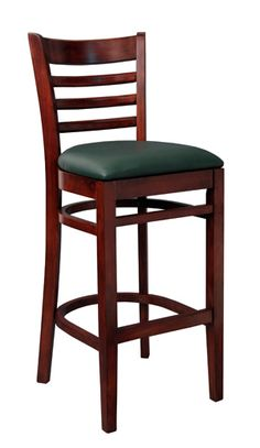 The Eco Ladderback Barstool by SeatingExpert is made out of solid European beech wood, it is assembled with mortise and tenon construction and metal reinforcements for added durability.