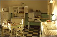 old kitchen 1910 | Kitchen Late in the Day | 1910- 1920's Kitchens