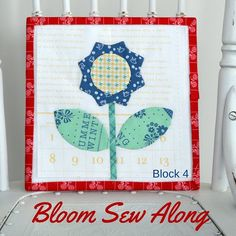 Bloom Sew Along Block 4 featuring Lori Holt's Calico Days fabric collection #iloverileyblake