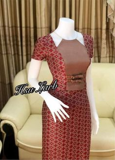 Traditional Dresses Designs, Myanmar Dress Design, Myanmar Traditional Dress, Casual Dresses, Dresses For Work, Latest African Fashion Dresses, Dress Collection, Designer Dresses, Mac