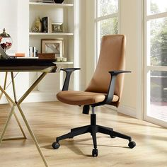 Fount Mid Back Office Chair in Tan