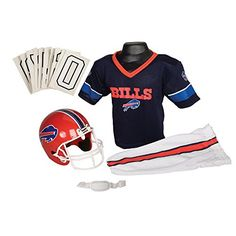 Buffalo Bills Youth Nfl Deluxe Helmet And Uniform Set (Small) Top Halloween  Costumes 7443446ec