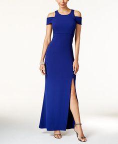 MSK Off-The-Shoulder A-Line Gown | macys.com