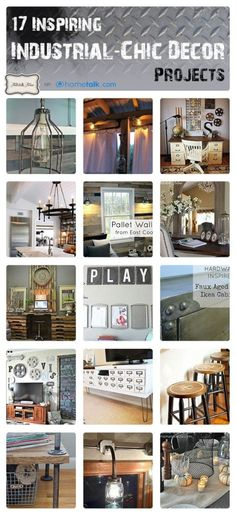 17 Inspiring Industrial Chic Decor Projects, from Hometalk, featured on http://www.funkyjunkinteriors.net