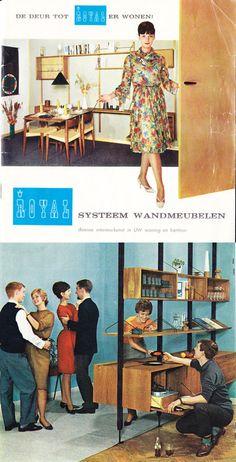 Vintage Advertisements, Vintage Ads, Vintage Shelving, Retro Interior Design, Vintage Furniture, Furniture Ads, Vintage Interiors, Googie, Mid Century Modern Design
