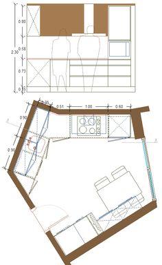 reordenación de cocina diseño 1, alzado lado derecho zona de cocinado
