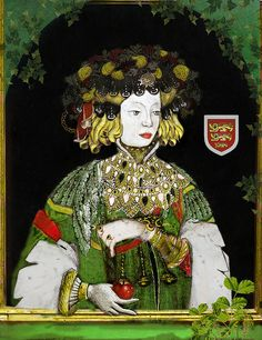 """Joan of Kent """"The fair maiden"""" by the lost gallery, via Flickr"""