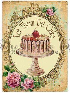 Vintage Let Them Eat Cake