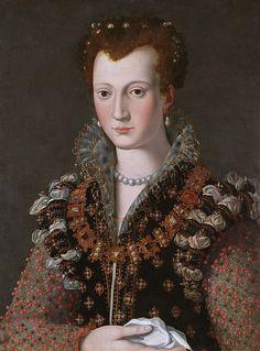 Camilla Martelli,second wife of Cosimo I by Alessandro Allori,c.1570
