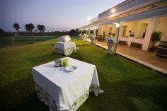 #Parador de #Malaga #golf #banquete en el exterior #cocktel #bodas #ideales #bodasenlaplaya