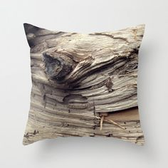 Photo Pillow Cover Decorative Wood Pillow Brown Rustic Pillow Pillow and Insert