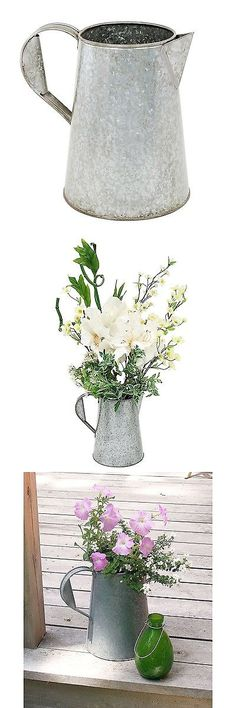 Watering Cans 20547: Achla Designs Galvanized Flower Carafe Watering Jug Galvanized Steel -> BUY IT NOW ONLY: $32.36 on eBay!