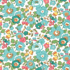 Liberty of London Tana Lawn Betsy D Turquoise Fabric One Yard by Alicecarolinesupply on Etsy https://www.etsy.com/listing/95873890/liberty-of-london-tana-lawn-betsy-d