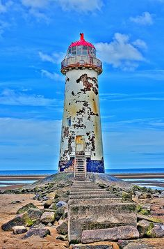 "Talacre Lighthouse | Wales, UK... Any takers?...this lighthouse is ""for sale""..."