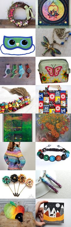 Colourful gift collectin. :) by poletsy on Etsy--Pinned+with+TreasuryPin.com