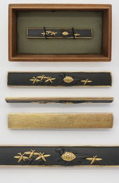 Kozuka: Mumei turtle and bamboo leaf | Japanese Sword Shop Aoi-Art.