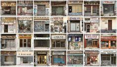 Gevolgen van economische ontwikkelingen in Griekenland. De gesloten winkels op de foto gezet en verzameld door Gergios Makkas.