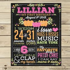 Items similar to Girl Pumpkin Birthday Chalkboard Sign - Little Pumpkin Birthday Chalkboard Sign - Fall First Birthday Chalkboard Printable - Pink Orange on Etsy Fall First Birthday, Fall 1st Birthdays, Pumpkin 1st Birthdays, Pumpkin First Birthday, 1st Birthday Party For Girls, Girl Birthday Themes, Birthday Ideas, Baby Party, 1st Birthday Chalkboard