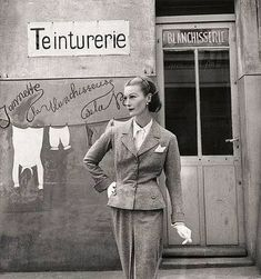 Mary Jane Russell in suit by Chanel, photo by Louise Dahl-… | Flickr
