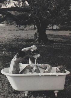 bubble bath time