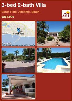 3-bed 2-bath Villa in Santa Pola, Alicante, Spain ►€264,995 #PropertyForSaleInSpain