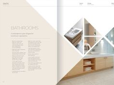 Property Brochure Spread - layout - I really like this spread because it& simple and elegant while being creative and different, - Brochure Indesign, Template Brochure, Design Brochure, Brochure Layout, Design Editorial, Editorial Layout, Web Design, Book Design, Design Trends