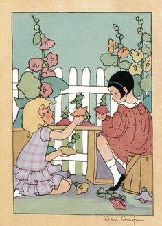 vintage .i love love 1920's childrens' book illustrations.