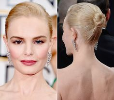 14 of the Prettiest Golden Globes Updos from Every Angle - Kate Bosworth - from… Wedding Hair Inspiration, High Ponytails, Kate Bosworth, Damp Hair Styles, Smooth Hair, Celebrity Look, Golden Globes, How To Make Hair, Celebrity Hairstyles
