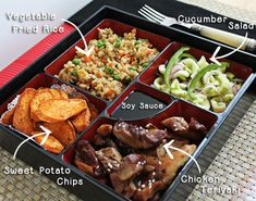 Bento Box With Chicken Teriyaki