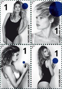 Dutch supermodel Doutzen Kroes shot by Anton Corbijn for PostNL stamps 2016