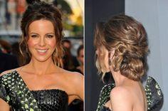Celebrity Updo Ideas for Your Wedding - Kate Beckinsale / Photo Courtesy of Keystone Press