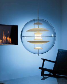 suspension de couleur transparent et plastique et le style est années 70 par verpan référence 10020219