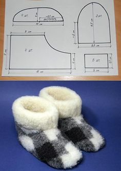 Warm slippers from fur the handsHow to sew chuni? Sewing Slippers, Baby Slippers, Crochet Slippers, Doll Shoe Patterns, Baby Shoes Pattern, Sewing Patterns, Baby Sewing Projects, Sewing For Kids, Sewing Art