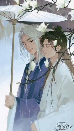 """LangLangDing龚俊唯爱张哲瀚 on Twitter: """"#WordOfHonor Ah Xu and Lao Wen's daily life after marriage💕(2) Cr. Tfwcs_鱼… """" Life After Marriage, Anime Flower, Animes To Watch, Wallpaper Space, Anime Couples Manga, Flower Boys, Couple Art, Boy Art, Chinese Art"""
