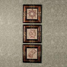 Azteca Decorative Wall Plaque Set