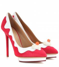 Charlotte Olympia - Debonaire Sundae suede and patent-leather pumps - mytheresa.com GmbH