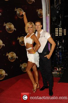Natalie Lowe & Brendan Cole Strictly Come Dancing 2014 launch at Elstree Studios