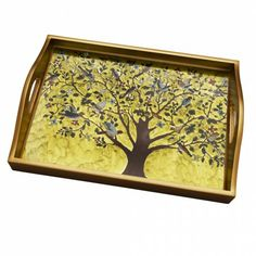 Tree of Life Painted Tray - Trays & Platters - Kitchen & Dining - Products
