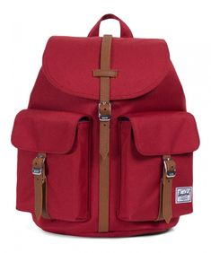 This bag is a classic case of slick brick. The Herschel Dawson XS Poly Brick Red/Tan is the perfect bag for on the go. This is a smaller version of the full-size Dawson backpack model and contains a side-access zippered storage sleeve, two external s Herschel Rucksack, Swag, Herschel Supply Co, Vinyl, Backpacks, Red, Brick, Sporty