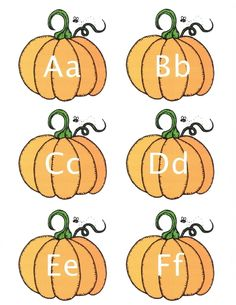 """Pumpkin activities: FREE Alphabet Pumpkin cards.  Includes separate upper and lowercase letters so you can make matching games & play """"I Have; Who Has?"""""""