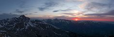 Sunset Panorama behind Mt. of the Holy Cross near Minturn, Colorado - Mountain photograpy by Aaron Spong