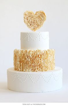 10 Love Inspired Cakes | including this design by Tessa Huff | on TheCakeBlog.com