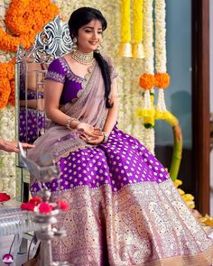 Double tap if this vivid outfit made you fall in love. 😍 Would you wear something like for your wedding? Shot by Makeup &… Half Saree Lehenga, Sari, Saree Dress, Bridal Lehenga, Set Saree, Lehenga Dupatta, Bollywood Lehenga, Kids Lehenga, Anarkali Suits