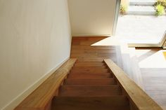 Nice wooden staircase in a modern house in Wezembeek Oppem / Brussels -#stair #architecture #brussels #wood