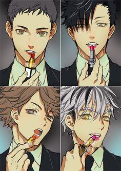 My god! Kiss me please 😅😅 (haikyuu) Manga Anime, Got Anime, Fanarts Anime, Anime Characters, Bokuto Koutarou, Kuroo Tetsurou, Kuroken, Kageyama, Bokuaka