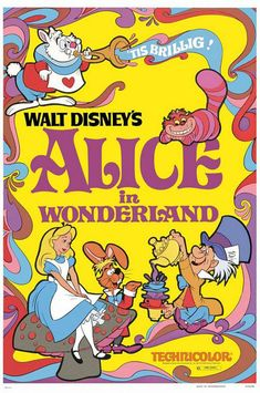 Awesome #Disney posters Alice in Wonderland